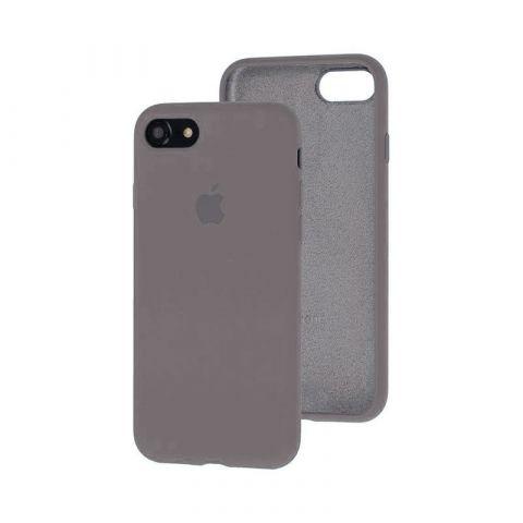 Силиконовый чехол для iPhone 7/8 Silicone Case Full (с закрытой нижней частью)-Lavender