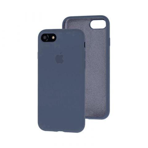 Силиконовый чехол для iPhone 7/8 Silicone Case Full (с закрытой нижней частью)-Lavender Gray