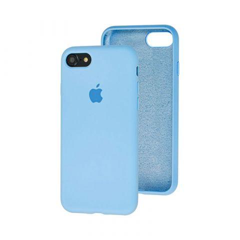 Силиконовый чехол для iPhone 7/8 Silicone Case Full (с закрытой нижней частью)-Lilac Cream