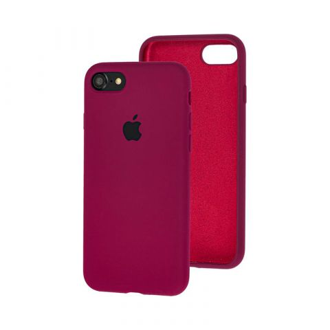 Силиконовый чехол для iPhone 7/8 Silicone Case Full (с закрытой нижней частью)-Marsala