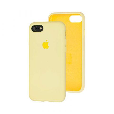 Силиконовый чехол для iPhone 7/8 Silicone Case Full (с закрытой нижней частью)-Mellow Yellow