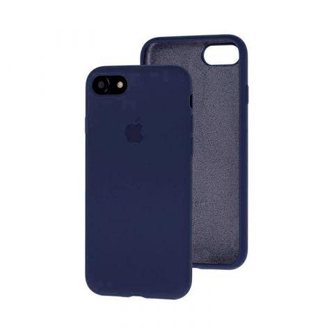 Силиконовый чехол для iPhone 7/8 Silicone Case Full (с закрытой нижней частью)-Midnight Blue