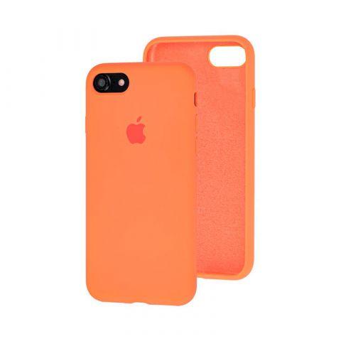 Силиконовый чехол для iPhone 7/8 Silicone Case Full (с закрытой нижней частью)-Papaya