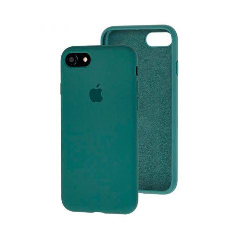 Силиконовый чехол для iPhone 7/8 Silicone Case Full (с закрытой нижней частью)-Pine Green