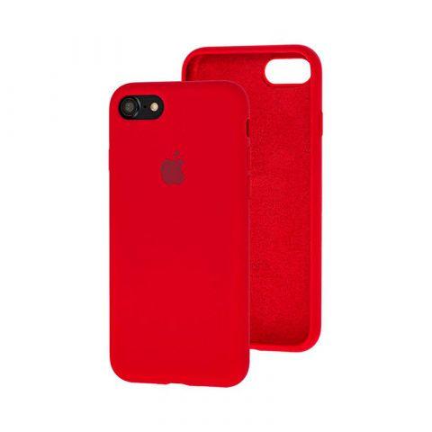 Силиконовый чехол для iPhone 7/8 Silicone Case Full (с закрытой нижней частью)-Red