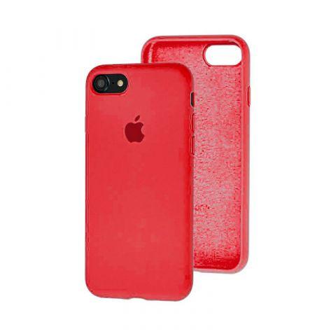 Силиконовый чехол для iPhone 7/8 Silicone Case Full (с закрытой нижней частью)-Red Raspberry
