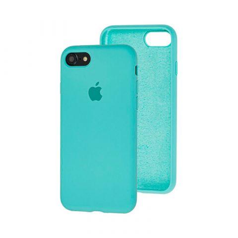 Силиконовый чехол для iPhone 7/8 Silicone Case Full (с закрытой нижней частью)-Sea Blue