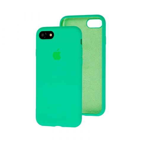 Силиконовый чехол для iPhone 7/8 Silicone Case Full (с закрытой нижней частью)-Spearmint