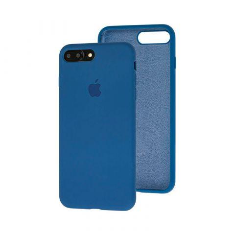 Силиконовый чехол для iPhone 7 Plus / 8 Plus Silicone Case Full (с закрытой нижней частью)-Alaskan Blue