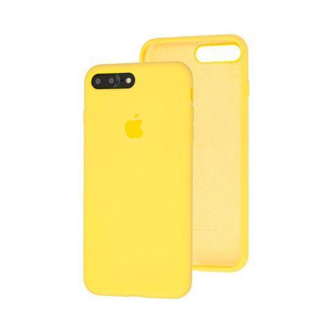 Силиконовый чехол для iPhone 7 Plus / 8 Plus Silicone Case Full (с закрытой нижней частью)-Canary Yellow