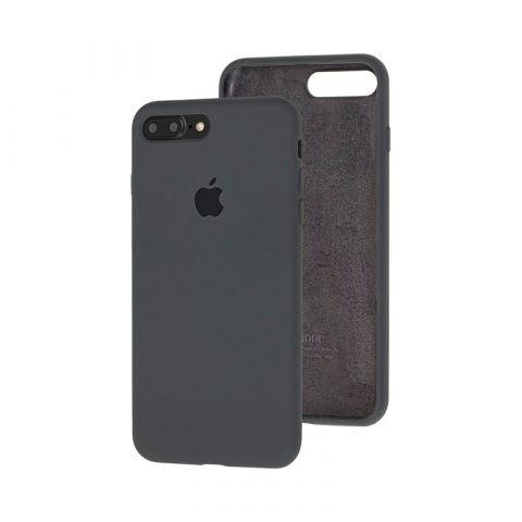 Силиконовый чехол для iPhone 7 Plus / 8 Plus Silicone Case Full (с закрытой нижней частью)-Charcoal Grey