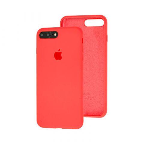 Силиконовый чехол для iPhone 7 Plus / 8 Plus Silicone Case Full (с закрытой нижней частью)-Coral
