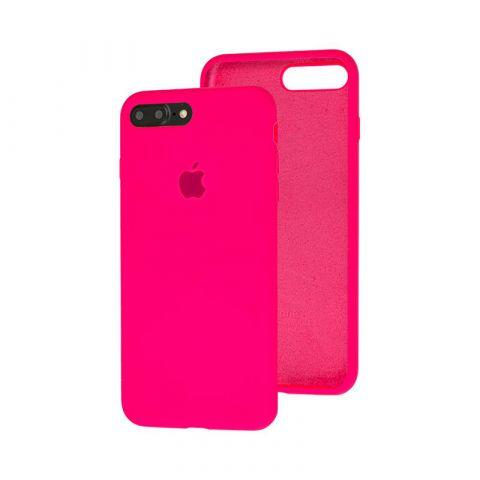 Силиконовый чехол для iPhone 7 Plus / 8 Plus Silicone Case Full (с закрытой нижней частью)-Electric Pink