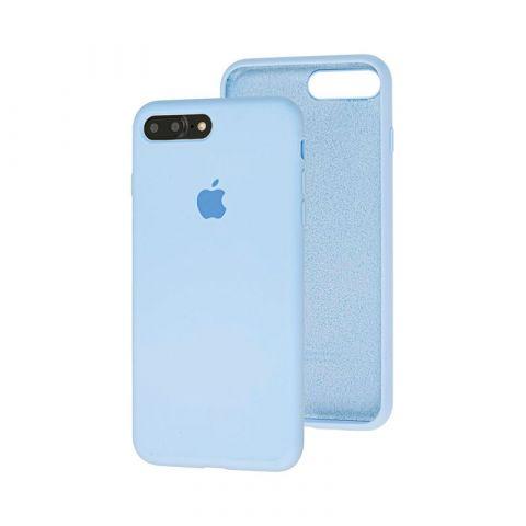 Силиконовый чехол для iPhone 7 Plus / 8 Plus Silicone Case Full (с закрытой нижней частью)-Lilac Cream