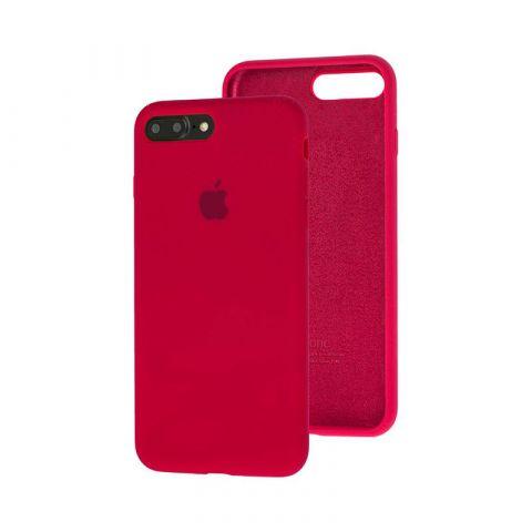 Силиконовый чехол для iPhone 7 Plus / 8 Plus Silicone Case Full (с закрытой нижней частью)-Marsala