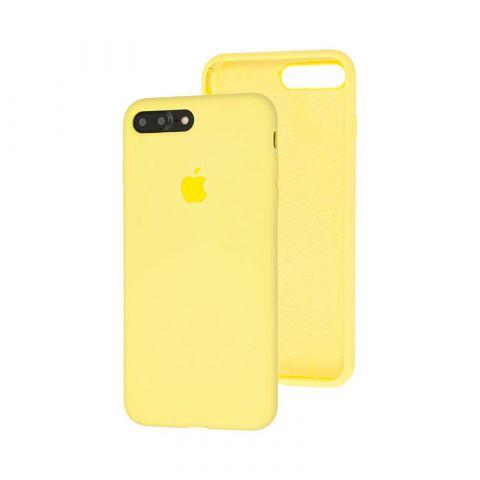 Силиконовый чехол для iPhone 7 Plus / 8 Plus Silicone Case Full (с закрытой нижней частью)-Mellow Yellow