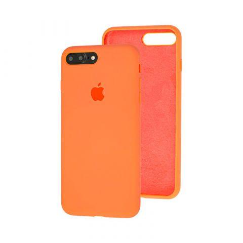 Силиконовый чехол для iPhone 7 Plus / 8 Plus Silicone Case Full (с закрытой нижней частью)-Papaya