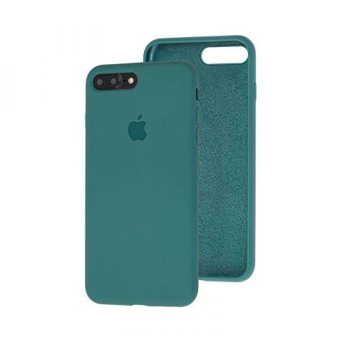 Силиконовый чехол для iPhone 7 Plus / 8 Plus Silicone Case Full (с закрытой нижней частью)-Pine Green
