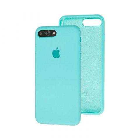 Силиконовый чехол для iPhone 7 Plus / 8 Plus Silicone Case Full (с закрытой нижней частью)-Sea Blue