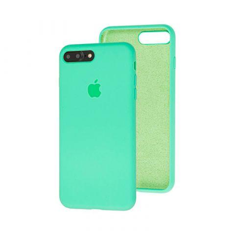 Силиконовый чехол для iPhone 7 Plus / 8 Plus Silicone Case Full (с закрытой нижней частью)-Spearmint