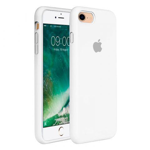 Силиконовый чехол для iPhone 7 Plus / 8 Plus Silicone Case Full (с закрытой нижней частью)-White