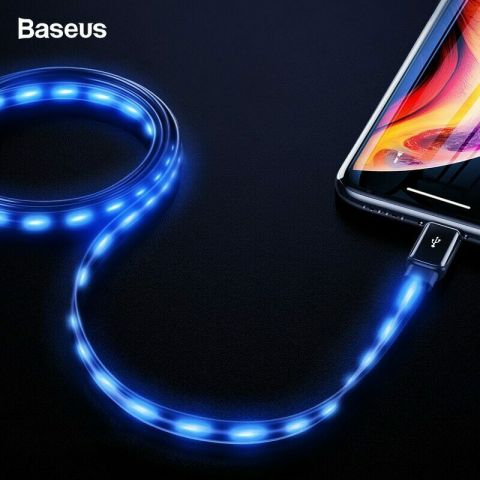 Lightning кабель для iPhone Baseus Glowing 2.4A 1m