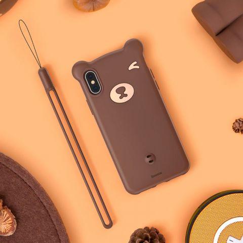 Чехол для iPhone X/XS Baseus Bear Case