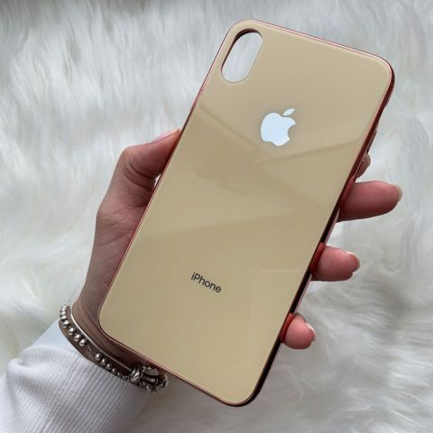 Чехол для iPhone XS Max Glass Case Logo
