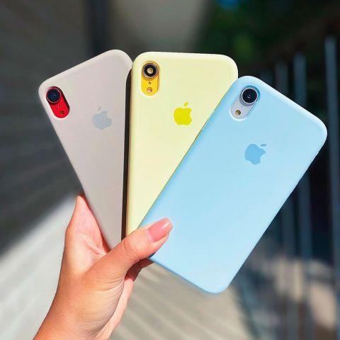 Силиконовый чехол для iPhone XR Silicone Case Full (с закрытой нижней частью)