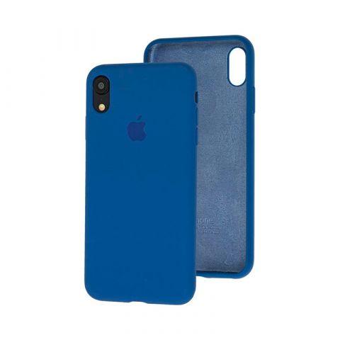 Силиконовый чехол для iPhone XR Silicone Case Full (с закрытой нижней частью)-Alaskan Blue