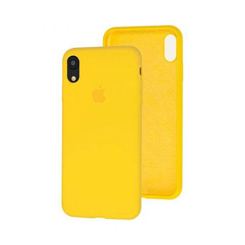 Силиконовый чехол для iPhone XR Silicone Case Full (с закрытой нижней частью)-Canary Yellow