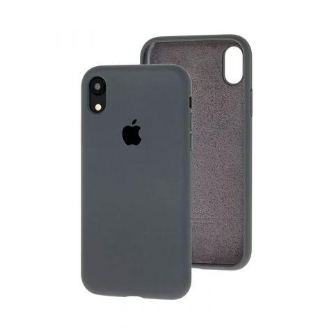 Силиконовый чехол для iPhone XR Silicone Case Full (с закрытой нижней частью)-Charcoal Grey