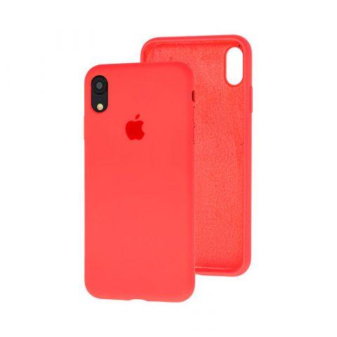 Силиконовый чехол для iPhone XR Silicone Case Full (с закрытой нижней частью)-Coral