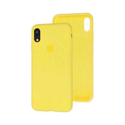 Силиконовый чехол для iPhone XR Silicone Case Full (с закрытой нижней частью)-Flash