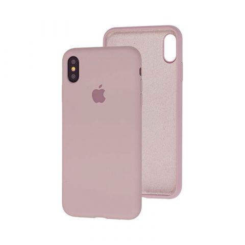 Силиконовый чехол для iPhone XR Silicone Case Full (с закрытой нижней частью)-Lavender