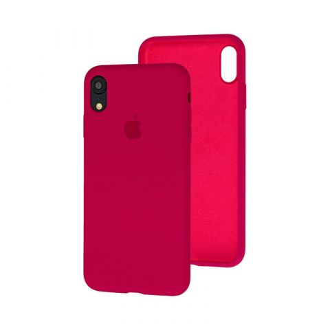 Силиконовый чехол для iPhone XR Silicone Case Full (с закрытой нижней частью)-Marsala