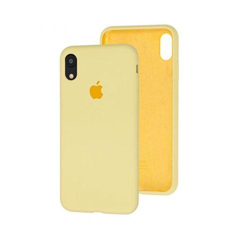 Силиконовый чехол для iPhone XR Silicone Case Full (с закрытой нижней частью)-Mellow Yellow