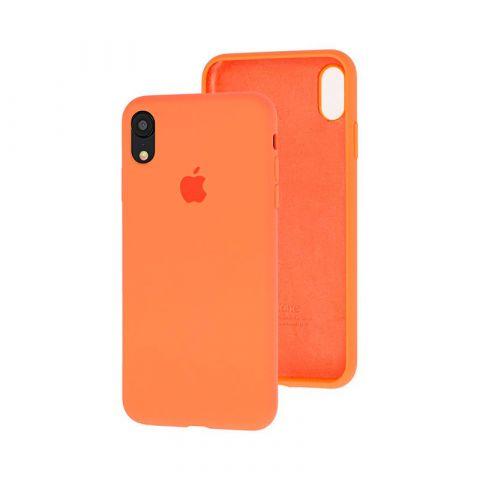Силиконовый чехол для iPhone XR Silicone Case Full (с закрытой нижней частью)-Papaya