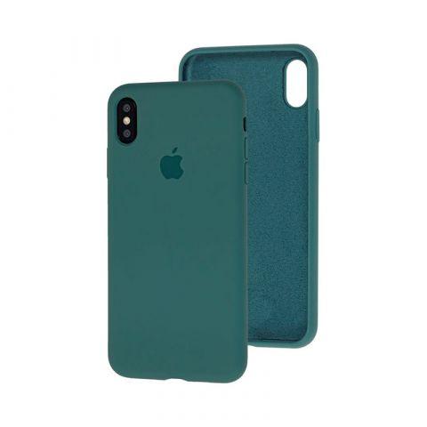 Силиконовый чехол для iPhone XR Silicone Case Full (с закрытой нижней частью)-Pine Green