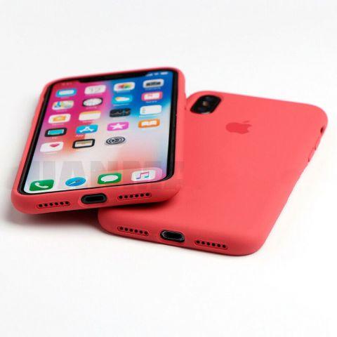 Силиконовый чехол для iPhone XR Silicone Case Full (с закрытой нижней частью)-Red Raspberry