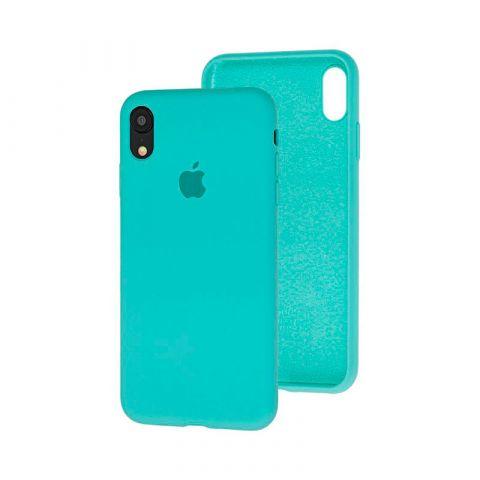 Силиконовый чехол для iPhone XR Silicone Case Full (с закрытой нижней частью)-Sea Blue