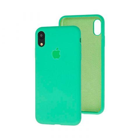 Силиконовый чехол для iPhone XR Silicone Case Full (с закрытой нижней частью)-Spearmint