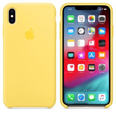 Силиконовый чехол для iPhone X/XS Apple Silicone Case-Canary Yellow