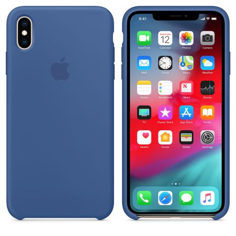 Силиконовый чехол для iPhone X/XS Apple Silicone Case-Delft Blue