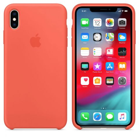 Силиконовый чехол для iPhone X/XS Apple Silicone Case-Nectraine
