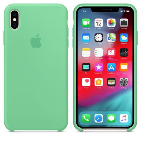 Силиконовый чехол для iPhone X/XS Apple Silicone Case-Spearmint