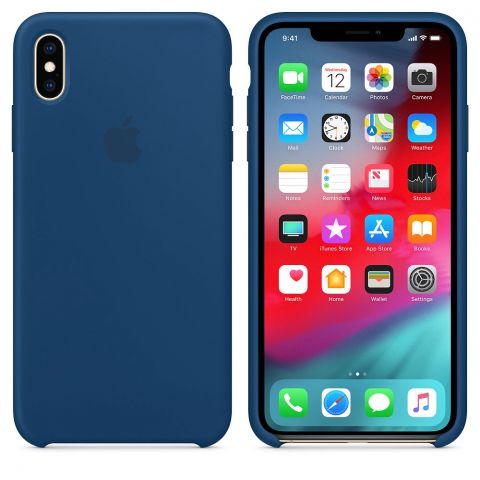 Силиконовый чехол для iPhone XS Max Apple Silicone Case-Blue Horizon