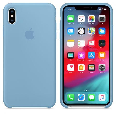 Силиконовый чехол для iPhone XS Max Apple Silicone Case-Cornflower