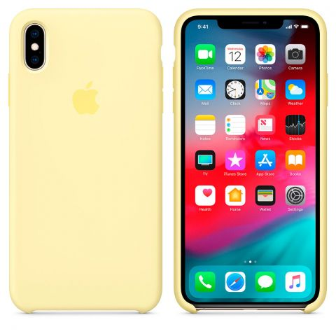 Силиконовый чехол для iPhone XS Max Apple Silicone Case-Mellow Yellow