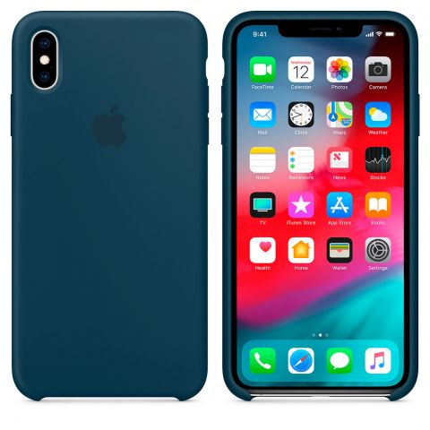 Силиконовый чехол для iPhone XS Max Apple Silicone Case-Pacific Green